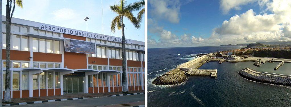 Aeroporto Manuel Quarta Punza no Uige | Ampliação do Porto de Rabo de Peixe em São Miguel