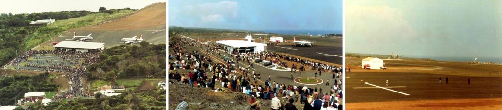 Inauguration of the São Jorge Aerodrome on April 23, 1983 | Inauguration of Pico airfield on April 5, 1982 | Inaugural Flight from Pico airfield on April 5, 1982