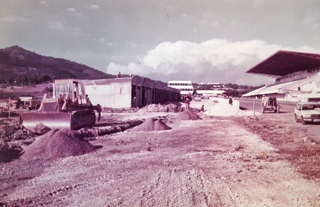 1984 Trabalhos no Autódromo do Estoril para o 1º GP de F1