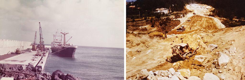 O Lima o 1º barco a atracar no Porto da Praia na ilha Graciosa | Terraplenagens na construção do IP5 – lanço G