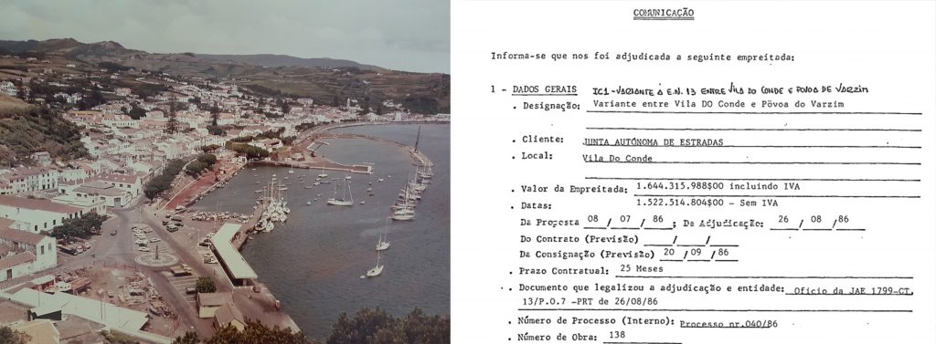 Horta Marina under construction | Communication 138 IC1-Povoa Varzim Contract