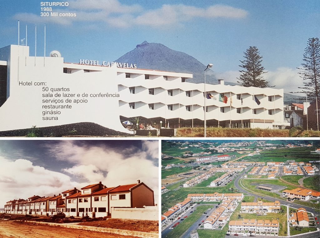 Hotel Caravelas no Pico | Construção do Bairro Hortheco na Horta | Vista Geral do Bairro da Hortheco na Horta