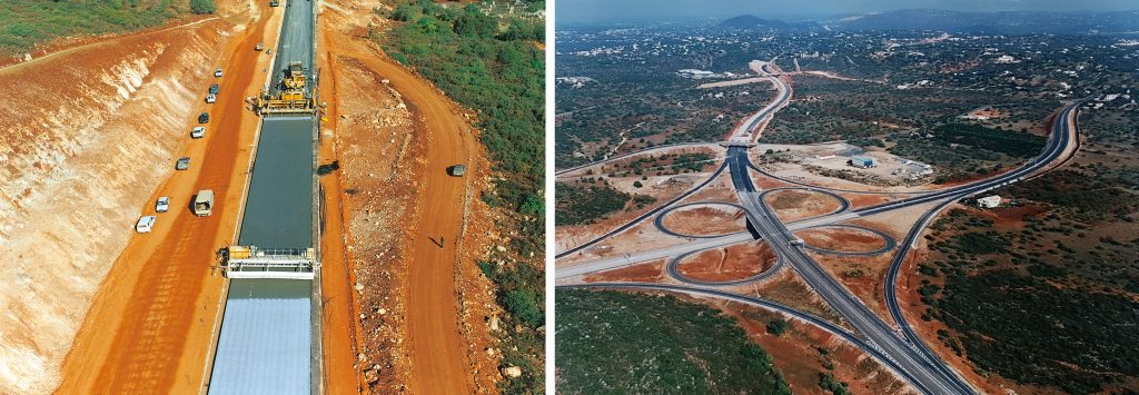 Paving and surfacing of the A22 [Via do Infante] subsection between the Loulé – Faro junctions, in continuous reinforced concrete | A22 [Via do Infante] subsection between the Loulé – Faro junctions