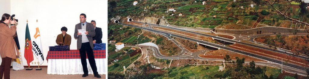 Luis Guilherme Costa at the incorporation of Tecnovia Azores | Câmara de Lobos – Ribeira Brava Expressway