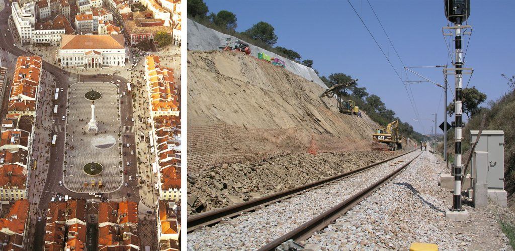 Renovation of the Rossio Square | Works on the Southern Line along the Santa Clara – Tunes section