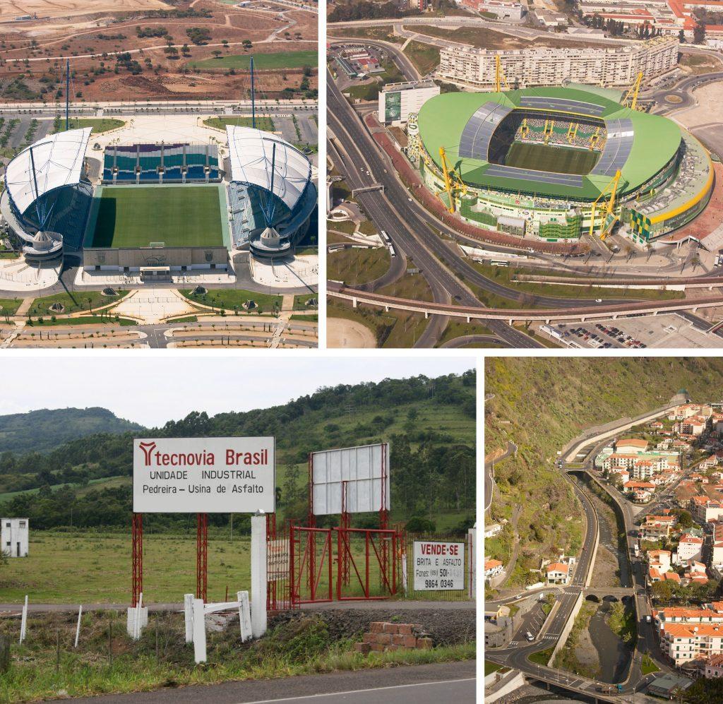 Estádio Faro_Loulé | Acessibilidades ao Estádio Alvalade XXI Lisboa | Centro Industrial da Tecnovia Brasil no Rio Grande do Sul | Variante à Ribeira Brava Madeira