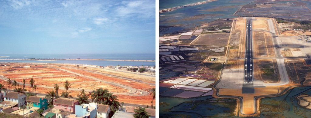 Infrastructure of the Sodimo development in Luanda | Renovation of the surface of runway 10-28 at Faro Airport
