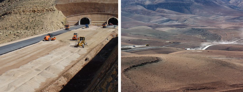 Work near the tunnel during construction of the motorway | Imintanout-Argana Section