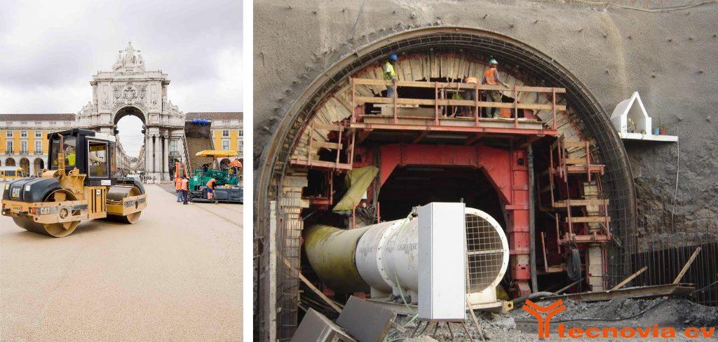 Renovation work at Terreiro do Paço | Construction of the Pedra Badejo tunnel on the island of Santiago