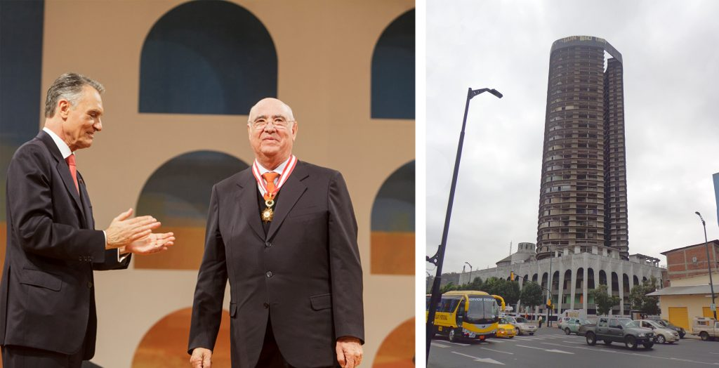 Awarding of the Order of Industrial Merit ('Ordem do Mérito Industrial') to José Guilherme Jorge da Costa by the Presidency of the Republic on 10 June, 2013 | Magap Building before its demolition in October 2013