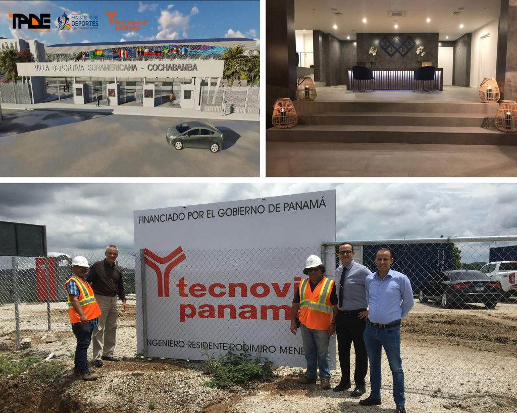 The Cochabamba Sports Village | The Tiles Hotel in Funchal | The Tecnovia team at the 1st project in Panama